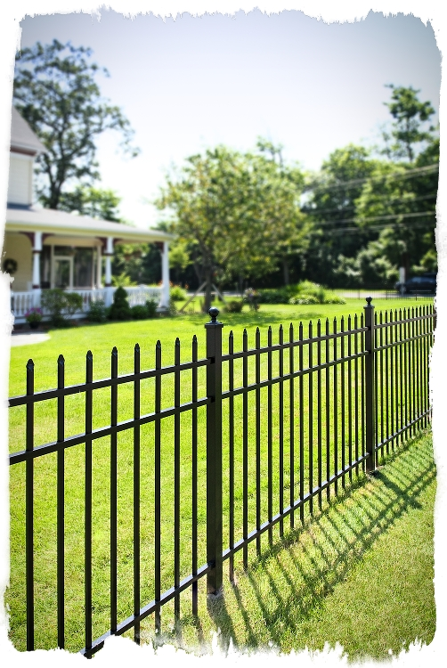 ornamental aluminum fence installs by forever fence of new jersey