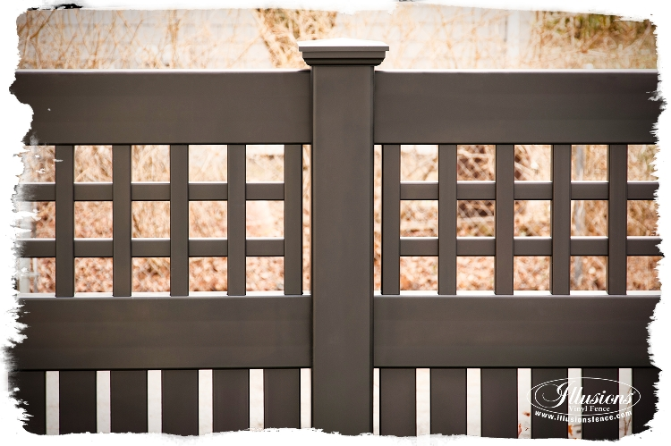 black pvc vinyl fence installs by Forever Fence